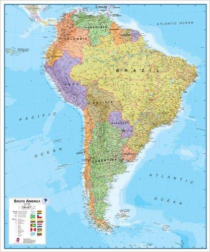 juzna amerika mapa Južná Amerika politická Terra / mapysveta.sk juzna amerika mapa