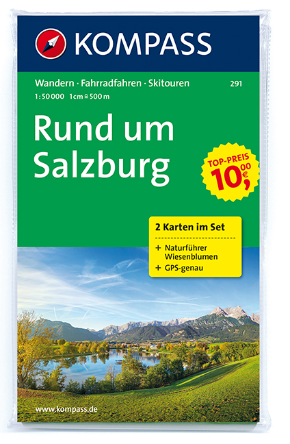 Turistika Kompass 291 Rund Um Salzburg Sada 2 Mapy 1 50t