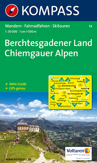 Turistika Kompass 14 Berchtesgadener Land Chiemgauer Alpen 1