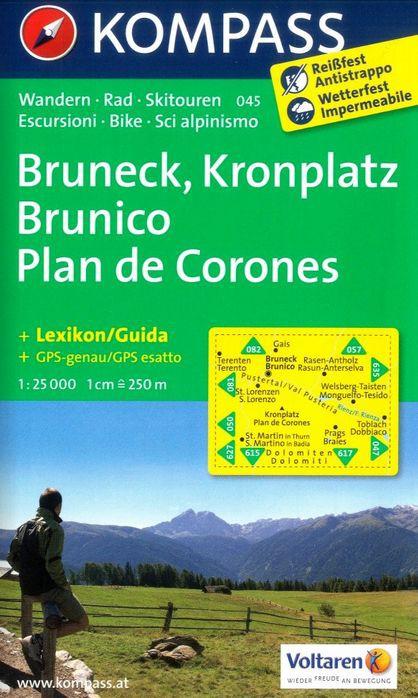 Turistika Kompass 045 Bruneck Kronplatz 1 25t Turisticka Mapa