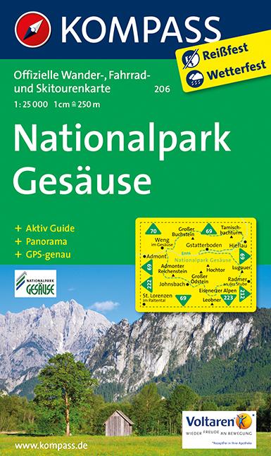 Turistika Kompass 206 Nationalpark Gesause 1 25t Turisticka Mapa