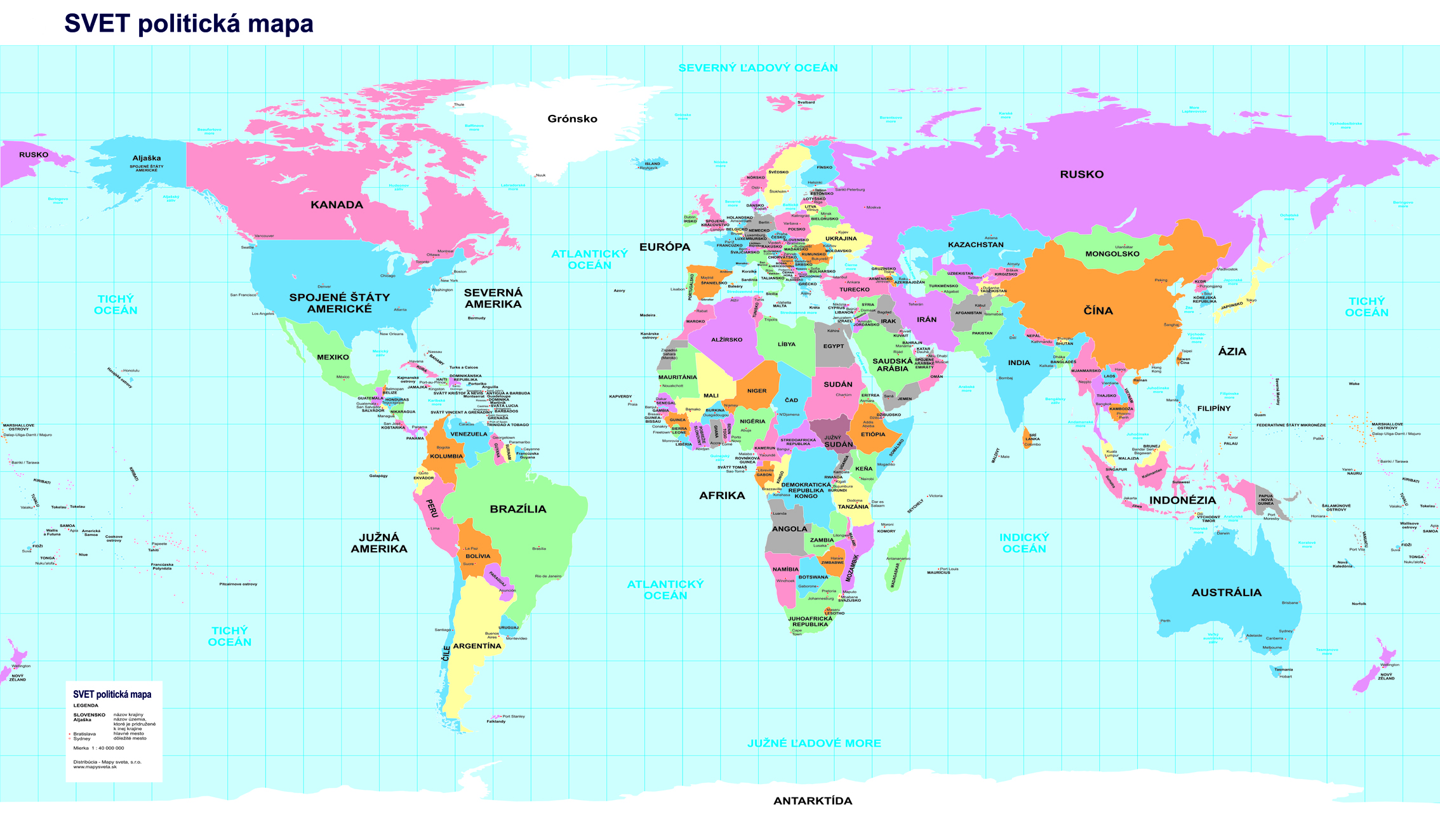 Nastenne Mapy Svet Politicky Simple 70x120cm Lamino Listy