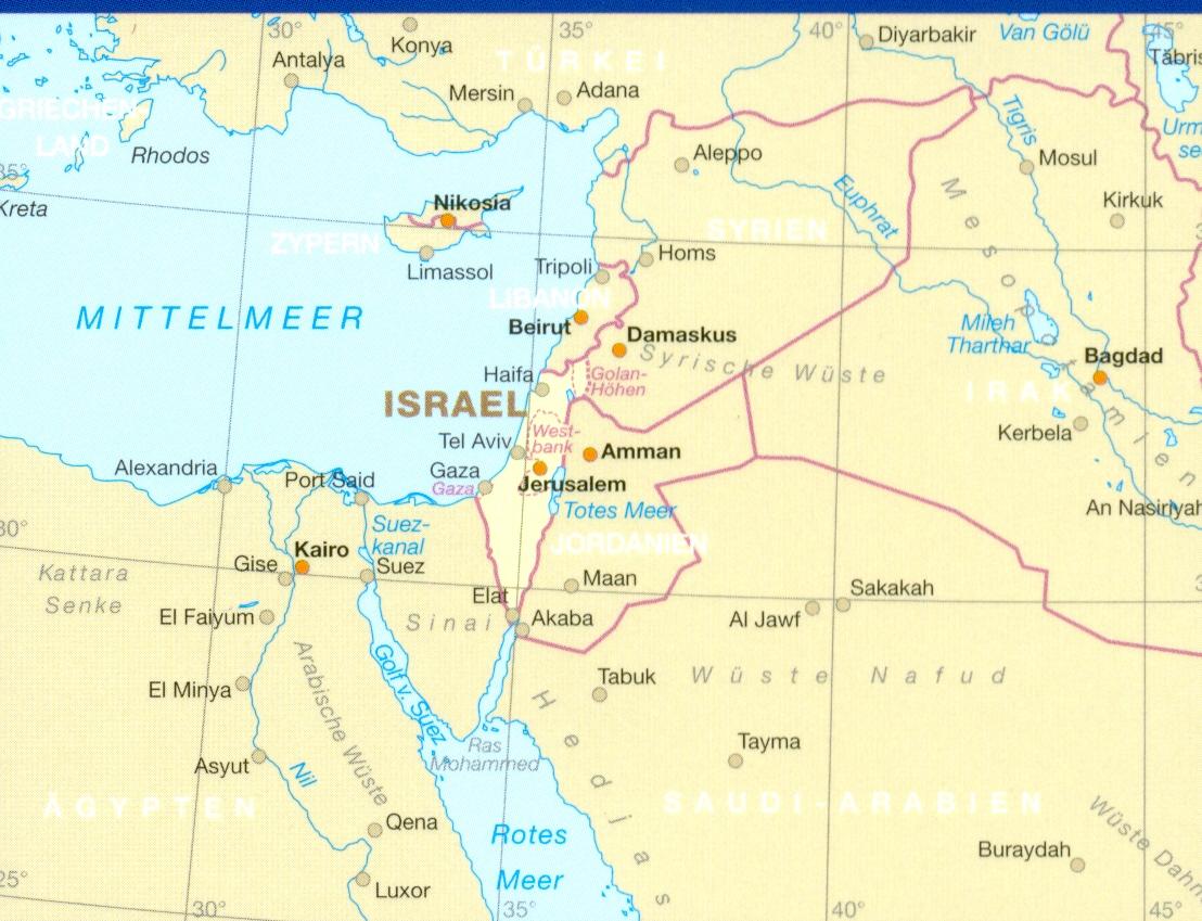 Azia Izrael Palestina 1 250tis Israel Palestine Skladana