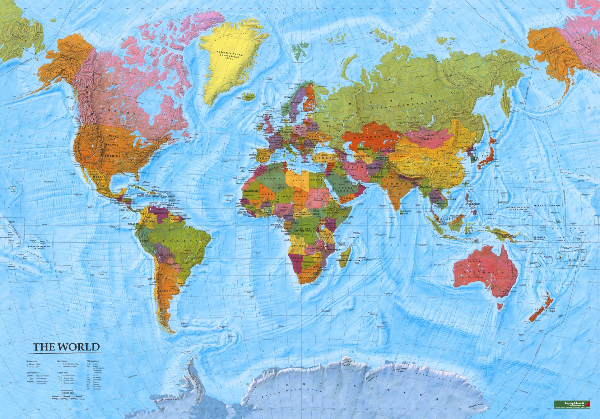 mapa sveta cena NÁSTENNÉ MAPY | Svet politický XXL 130x202cm lamino, lišty |   mapa sveta cena