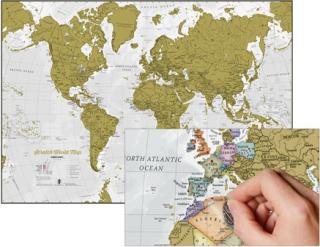 b37d0f732 World Gold Extra stieracia mapa 60x84cm + tubus / anglicky empty