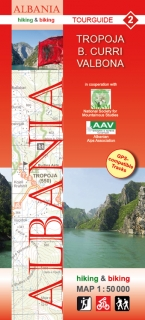 Albania Hiking and Biking Map 1:50t (2) Tropoja – B. Curri – Valbona