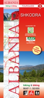 Albania Hiking and Biking Map 1:50t (3) Shkodra