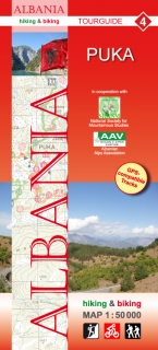 Albania Hiking and Biking Map 1:50t (4) Puka