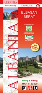 Albania Hiking and Biking Map 1:50t (6) Elbasan - Berat