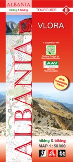 Albania Hiking and Biking Map 1:50t (8) Vlora