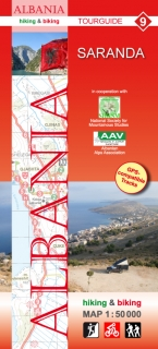 Albania Hiking and Biking Map 1:50t (9) Saranda