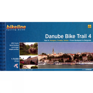 Danube Bike Trail 4 - from Budapest to Belgrade cyklosprievodca Esterbauer /angl
