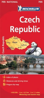 755 Česká republika (Czech republic) 1:450t mapa MICHELIN
