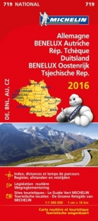 719 Germany,Benelux,Austria,Czech rep 2016 1:1m mapa MICHELIN