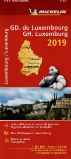 717 Luxemburg 2019 (Luxembourg) 1:150t national mapa MICHELIN