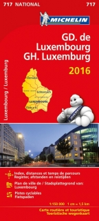 717 Luxemburg 2016 (Luxembourg) 1:150t national mapa MICHELIN