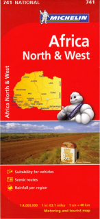 741 Afrika sever, západ (Africa North & West) 1:4mil national mapa MICHELIN