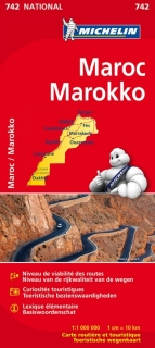 742 Maroko (Morocco) 1:1m national mapa MICHELIN