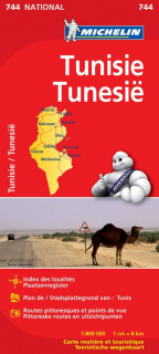 744 Tunisko (Tunisia) 1:800t national mapa MICHELIN