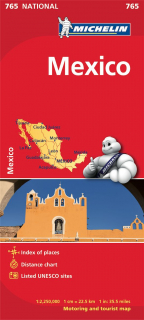 765 Mexiko (Mexico) 1:2,5m national mapa MICHELIN