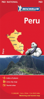 763 Peru 1:1,5m national mapa MICHELIN