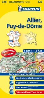 326 Allier, Puy-de-Dôme 2016 (Francúzsko) 1:150tis local mapa MICHELIN