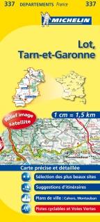 337 Lot, Tarn-et-Garonne 2016 (Francúzsko) 1:150tis local mapa MICHELIN