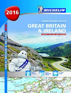 Great Britain, Ireland 2016 (V.Británia,Írsko) 300tis, A4 špirála atlas MICHELIN