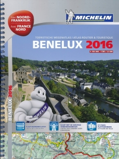Benelux & North of France 2016 1:150tis, A4 špirála atlas MICHELIN