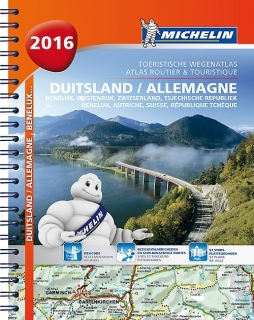 Germany,Benelux,Austria,Switzerland,Czech 2016 1:300-600t A4 špir.atlas MICHELIN