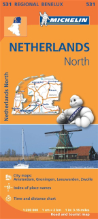 531 Netherlands North (Holandsko Sever) 1:200tis regional map MICHELIN