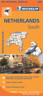 532 Netherlands South (Holandsko Juh) 1:200tis regional map MICHELIN