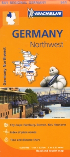 541 Germany Northwest (Nemecko) 1:350tis regional map MICHELIN
