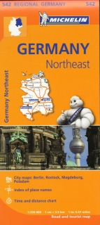 542 Germany Northeast (Nemecko) 1:350tis regional map MICHELIN