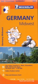 543 Germany Midwest (Nemecko) 1:350tis regional map MICHELIN