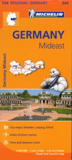 544 Germany Mideast (Nemecko) 1:300tis regional map MICHELIN
