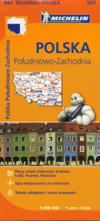 557 Poland South West (Poľsko) 1:300tis regional mapa MICHELIN