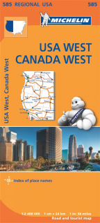 585 USA East, Canada West (USA Východ, Kanada záp) 2,4mil regional mapa MICHELIN