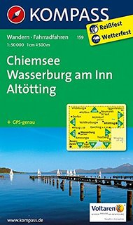 KOMPASS 159 Chiemsee, Wasserburg am Inn, Altötting 1:50t turistická mapa