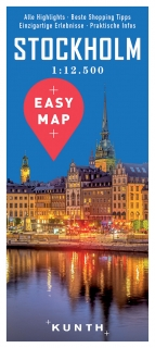 Stockholm Easy Map 1:12,5t (Švédsko) mapa mesta Kunth / 2017