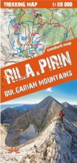 Rila,Pirin 1:80t Bulgarian Mountains (Bulharsko) trekking map